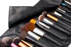 Yrkesmässig makeup borstar Arkivbilder