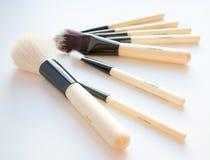 Yrkesmässig makeupborsteuppsättning Arkivbilder