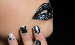 Yrkesmässig makeupcloseup Royaltyfria Bilder