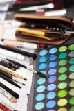 Yrkesmässig makeupsats Arkivbild