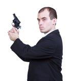 Yrkesmässig man med vapnet Arkivfoto