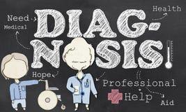 Yrkesmässig medicinsk diagnos för behov stock illustrationer