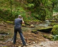 Yrkesmässig naturfotograf Royaltyfri Fotografi