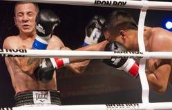 Yrkesmässig och amatörmässig boxning Fotografering för Bildbyråer
