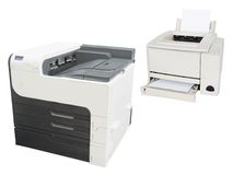 Yrkesmässig printingmaskin Fotografering för Bildbyråer