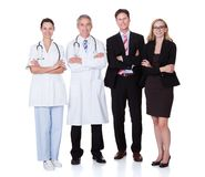 Yrkesmässig sjukhuspersonal Fotografering för Bildbyråer