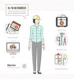 Yrkesmässig tekniker stock illustrationer
