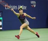 Yrkesmässig tennisspelare Elina Svitolina av Ukraina i handling under hennes match för runda 4 för US Open 2017 Arkivbilder