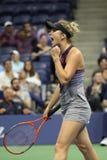 Yrkesmässig tennisspelare Elina Svitolina av Ukraina i handling under hennes match för runda 4 för US Open 2017 Royaltyfri Foto