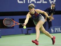 Yrkesmässig tennisspelare Elina Svitolina av Ukraina i handling under hennes match för runda 4 för US Open 2017 Fotografering för Bildbyråer