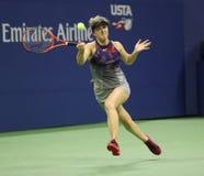 Yrkesmässig tennisspelare Elina Svitolina av Ukraina i handling under hennes match för runda 4 för US Open 2017 Royaltyfria Bilder