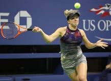 Yrkesmässig tennisspelare Elina Svitolina av Ukraina i handling under hennes match för runda 4 för US Open 2017 Royaltyfria Foton