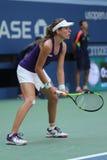 Yrkesmässig tennisspelare Johanna Konta av Storbritannien i handling under hennes match för runda fyra för US Open 2016 Royaltyfria Foton
