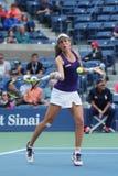 Yrkesmässig tennisspelare Johanna Konta av Storbritannien i handling under hennes match för runda fyra för US Open 2016 Arkivfoto