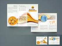 Yrkesmässig trifold broschyr, katalog och reklamblad vektor illustrationer