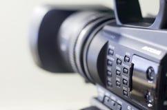 Yrkesmässig videokamera Arkivfoto