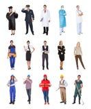 Yrkesmässiga arbetare, affärsman, kockar, doktorer, Arkivfoto