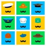 Yrkesmässiga hattar Fotografering för Bildbyråer