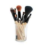 Yrkesmässiga makeupborstar Royaltyfri Fotografi