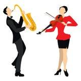 yrkesmässiga musiker vektor illustrationer
