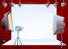 Yrkesmässigt baner för begrepp för studio för fotoperiod, tecknad filmstil vektor illustrationer