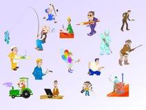 folk royaltyfri illustrationer