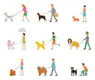 Yrkesmässigt gå för hund Arkivbild
