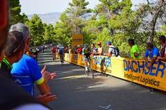 Yrkesmässigt lopp för cyklistLaVuelta España cirkulering royaltyfria foton