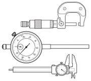 Yrkesmässigt mäta instrument fotografering för bildbyråer