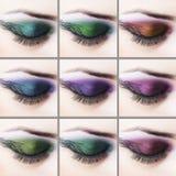Yrkesmässig ögonmakeup Fotografering för Bildbyråer