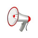 Yrkesmässig megafon på vit bakgrund Royaltyfria Bilder