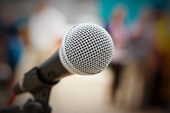 Yrkesmässig mikrofon Arkivbild
