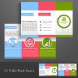 Yrkesmässig trifold broschyr, katalog och reklamblad för affär Royaltyfri Bild