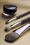Yrkesmässiga makeupborstar Royaltyfria Bilder
