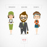 Yrketeckensamling royaltyfri illustrationer