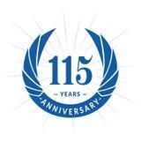 115 years anniversary design template. Elegant anniversary logo design. 115 years logo. 115 years anniversary celebration design template. 115 years celebrating vector illustration