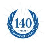 140 years anniversary design template. Elegant anniversary logo design. 140 years logo. 140 years anniversary celebration design template. 140 years celebrating royalty free illustration