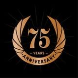 75 years anniversary design template. Elegant anniversary logo design. Seventy five years logo. 75 years anniversary celebration design template. 75 years vector illustration