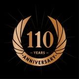 110 years anniversary design template. Elegant anniversary logo design. 110 years logo. 110 years anniversary celebration design template. 110 years celebrating stock illustration