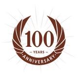 100 years anniversary design template. Elegant anniversary logo design. 100 years logo. 100 years anniversary celebration design template. 100 years celebrating stock illustration
