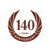 140 years anniversary design template. Elegant anniversary logo design. 140 years logo. 140 years anniversary celebration design template. 140 years celebrating vector illustration