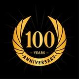 100 years anniversary design template. Elegant anniversary logo design. 100 years logo. 100 years anniversary celebration design template. 100 years celebrating royalty free illustration