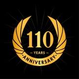 110 years anniversary design template. Elegant anniversary logo design. 110 years logo. 110 years anniversary celebration design template. 110 years celebrating vector illustration