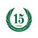 15 years anniversary design template. Elegant anniversary logo design. Fifteen years logo. 15 years anniversary celebration design template. 15 years royalty free illustration