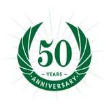 50 years anniversary design template. Elegant anniversary logo design. Fifty years logo. 50 years anniversary celebration design template. 50 years celebrating vector illustration