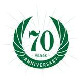 70 years anniversary design template. Elegant anniversary logo design. Seventy years logo. 70 years anniversary celebration design template. 70 years royalty free illustration