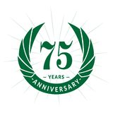 75 years anniversary design template. Elegant anniversary logo design. Seventy five years logo. 75 years anniversary celebration design template. 75 years stock illustration