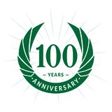 100 years anniversary design template. Elegant anniversary logo design. 100 years logo. 100 years anniversary celebration design template. 100 years celebrating vector illustration