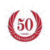 50 years anniversary design template. Elegant anniversary logo design. Fifty years logo. 50 years anniversary celebration design template. 50 years celebrating royalty free illustration