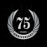 75 years anniversary design template. Elegant anniversary logo design. Seventy five years logo. 75 years anniversary celebration design template. 75 years royalty free illustration